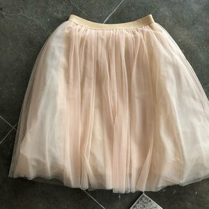 Anthropologie Tutu Midi Skirt